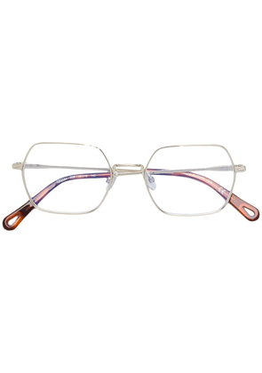 Chloé Eyewear rectangular frame glasses - Metallic