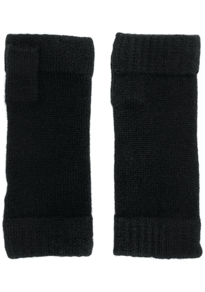N.Peal finger-less knitted gloves - Black