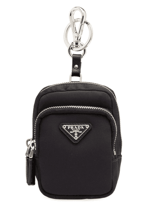 Prada Saffiano backpack keyring - Black