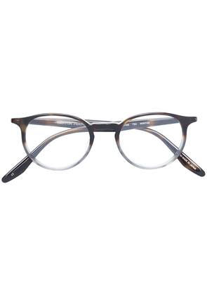 Barton Perreira rounded classic glasses - Brown