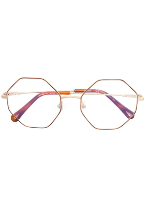 Chloé Eyewear round glasses - Metallic