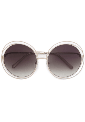 Chloé Eyewear Carlina round-frame sunglasses - Metallic