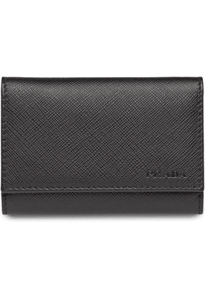 Prada Saffiano leather keyring - Black