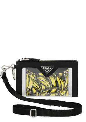 Prada banana print cardholder pocket - Black