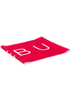 Buscemi two tone logo print scarf - Red