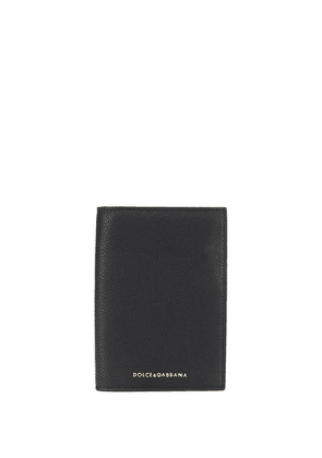 Dolce & Gabbana pebbled passport holder - Black