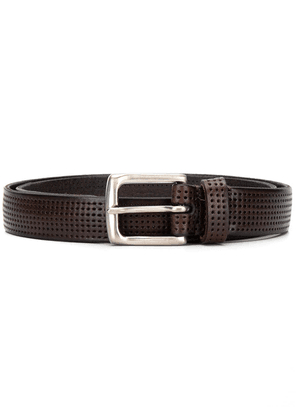 Anderson's perforated square-buckle belt - Brown