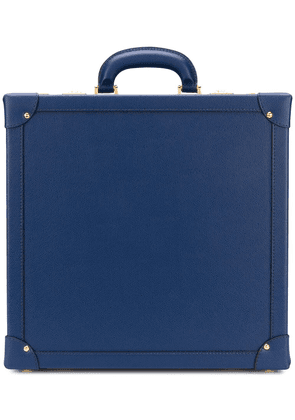 Family Affair embossed leather briefcase - Blue