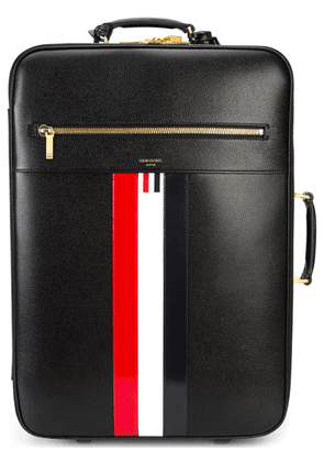Thom Browne Striped Leather Check-In Soft Case - Black