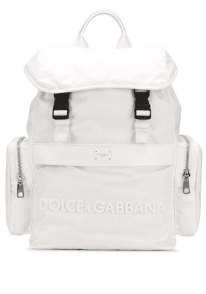 Dolce & Gabbana DNA Sicily nylon backpack - White