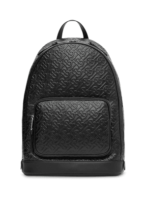 Burberry embossed monogram backpack - Black