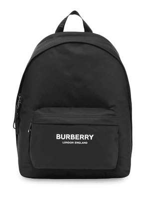 Burberry Logo Print ECONYL® Backpack - Black