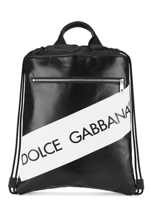 Dolce & Gabbana logo drawstring backpack - Black