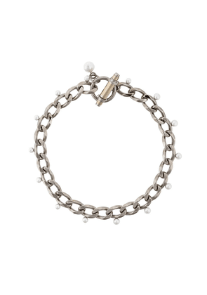 Givenchy Obsedia faux pearl necklace - Metallic
