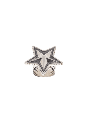 Cody Sanderson engraved star ring - Metallic