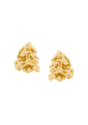 Coup De Coeur Vortex stud earrings - Metallic