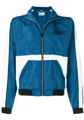 Andrea Crews colour-block zipped jacket - Blue