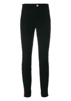 Gucci buttoned Web side panel skinny trousers - Black