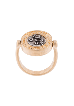 Ports 1961 two-tone embossed ring - GOLD