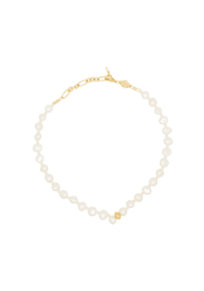 Anni Lu Stellar pearl-beaded anklet - GOLD