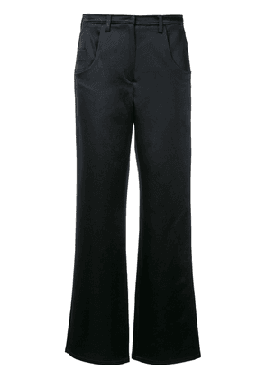 Christopher Esber plain flared trousers - Blue