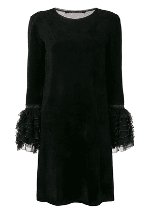 Antonino Valenti ruffled cuff dress - Black