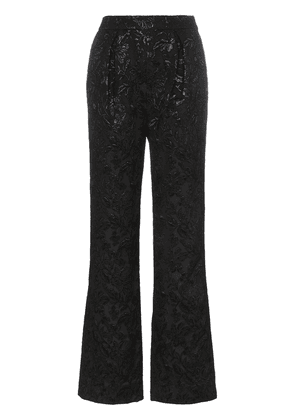 Erdem carin silk jacquard trousers - Black