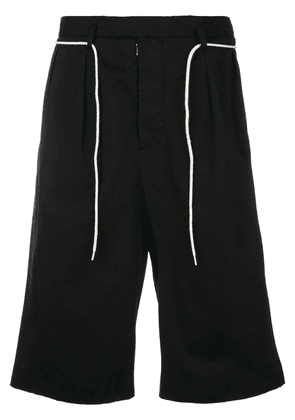 Maison Margiela contrast-trim tailored shorts - Black