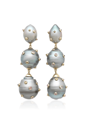 Bibi van der Velden 18K White Gold And Multi-Stone Earrings