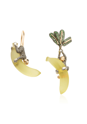 Bibi van der Velden Monkey On Banana 18K Rose And Yellow Gold, Sterlin