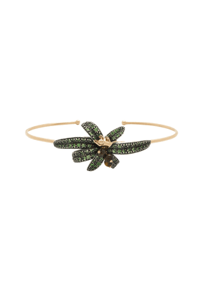 Bibi van der Velden Monkey Palm 18K Rose Gold, Tiger's Eye And Tsavori