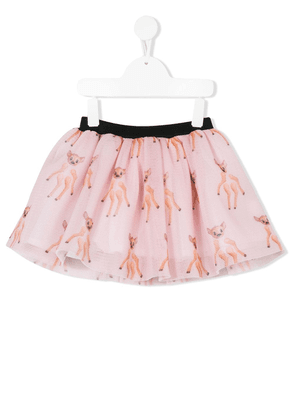 CAROLINE BOSMANS kids all over print flared skirt - PINK