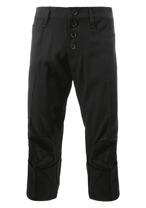 Christopher Nemeth cuffed cropped trousers - Black