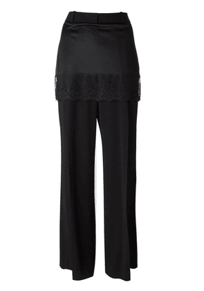 Givenchy lace trim skirt trousers - Black