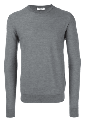 Fashion Clinic Timeless classic crew neck jumper - Grey