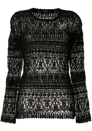 Isabel Marant knitted lace blouse - Black