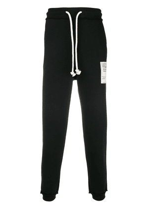 Maison Margiela Stereotype patch drawstring trousers - Black