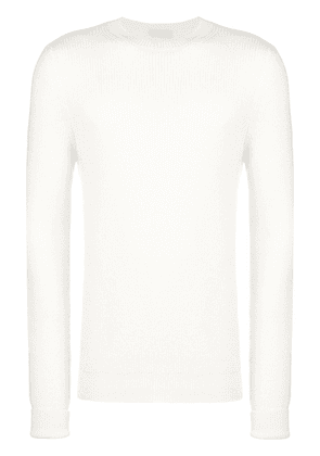 Al Duca D'Aosta 1902 long-sleeve fitted sweater - White