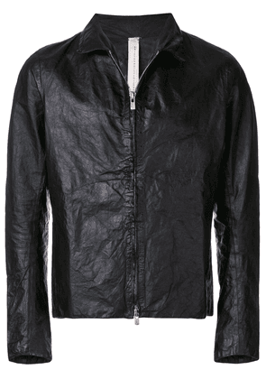 A Diciannoveventitre classic leather jacket - Black