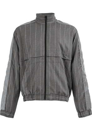 Andrea Crews striped Pinjac jacket - Grey