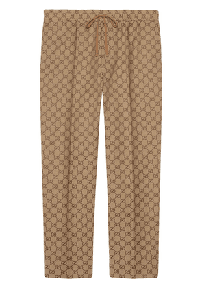 Gucci GG print drawstring trousers - NEUTRALS