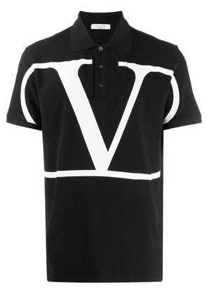 Valentino Deconstructed VLOGO polo shirt - Black