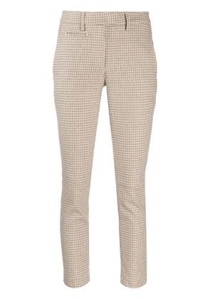 Dondup check print slim-fit trousers - NEUTRALS