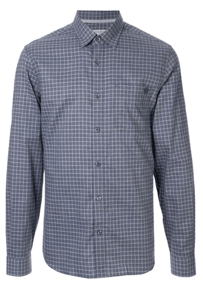 Gieves & Hawkes checked cotton shirt - Blue