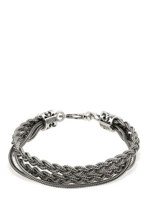 Double Braid Silver Bracelet