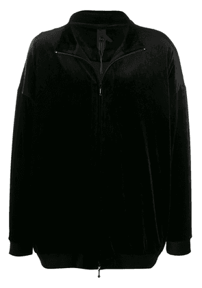 Bernhard Willhelm velvet panelled sports jacket - Black