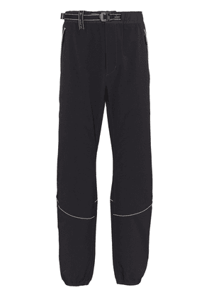 and Wander belted-waist technical trousers - Black
