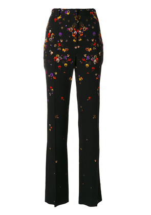Givenchy floral tailored trousers - Black