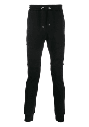 Balmain ribbed panels track trousers - Black