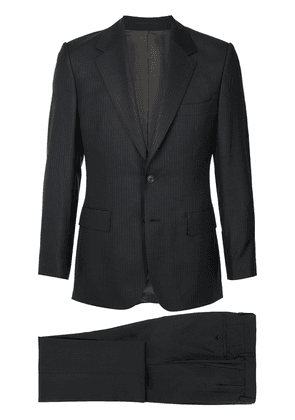Gieves & Hawkes fitted pinstripe suit - Black
